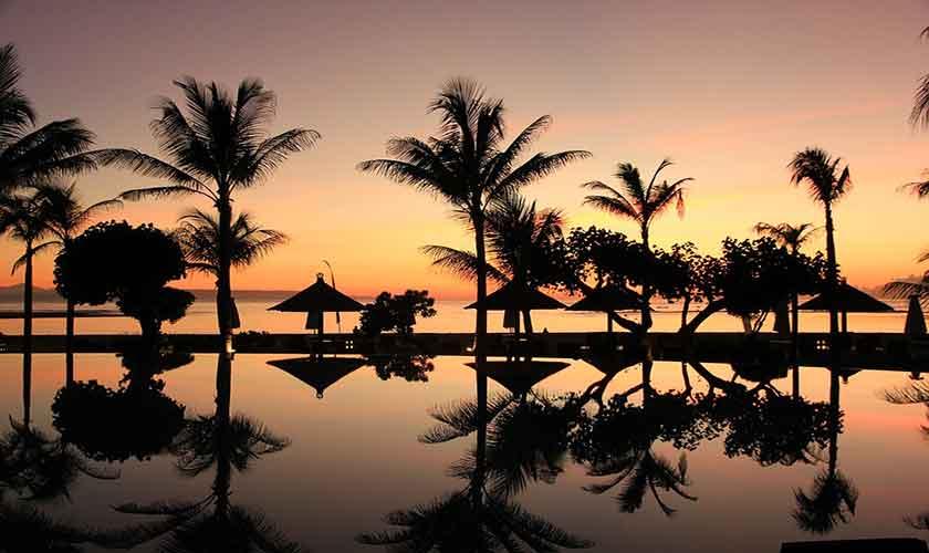 Bali Sonnenuntergang am Strand