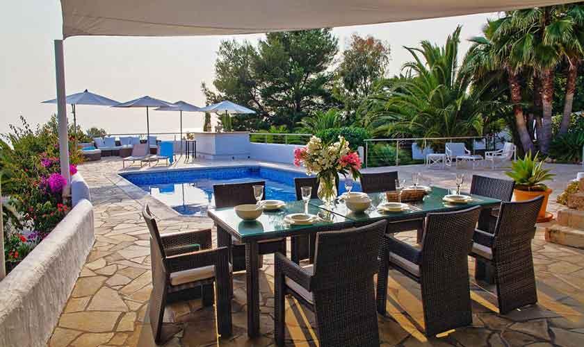 Pool und Meerblick Ferienhaus Ibiza IBZ 15