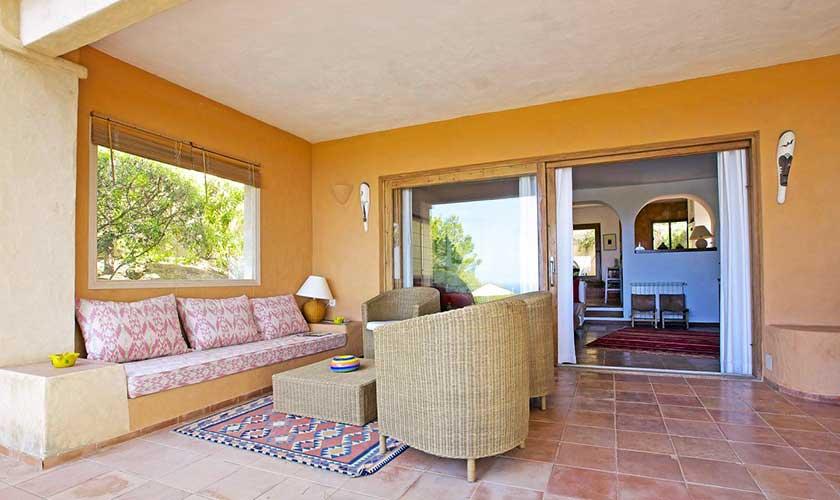 Überdachte Terrasse Ferienhaus Ibiza IBZ 19