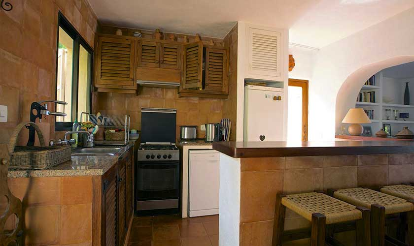 Offene Küche Ferienhaus Ibiza IBZ 19
