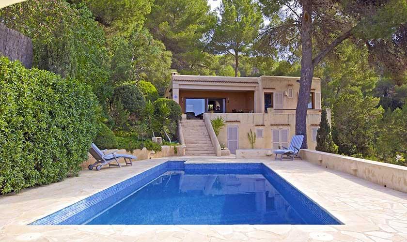 Pool und Terrasse Ferienhaus Ibiza IBZ 19