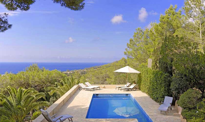 Pool und Meerblick Ferienhaus Ibiza IBZ 19