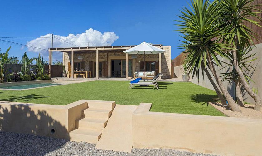 Blick auf das Ferienhaus Ibiza IBZ 22