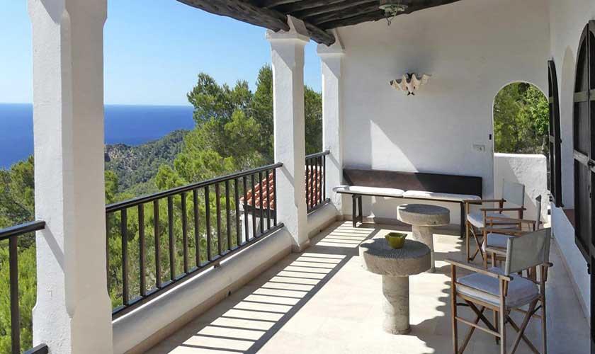 Terrasse und Meerblick Villa Ibiza IBZ 34