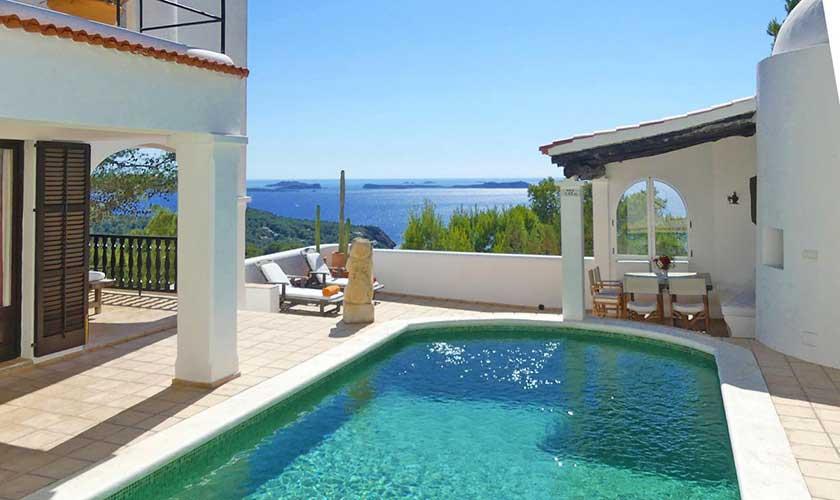 Pool und Meerblick Villa Ibiza IBZ 34