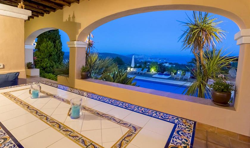 Terrasse und Meerblick Villa Ibiza IBZ 39