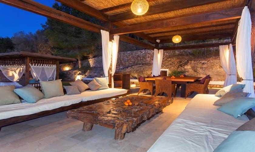 Abendstimmung Ferienfinca Ibiza 8 Personen IBZ 40