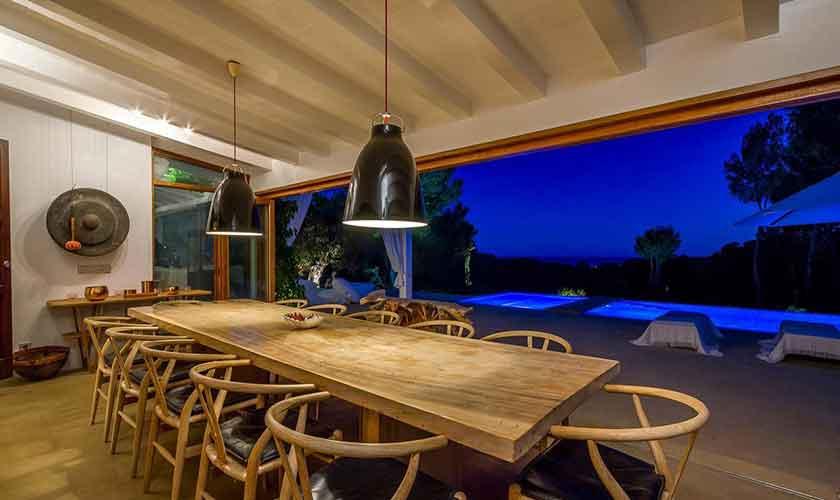 Terrasse erleuchtet Ferienhaus Ibiza IBZ 45