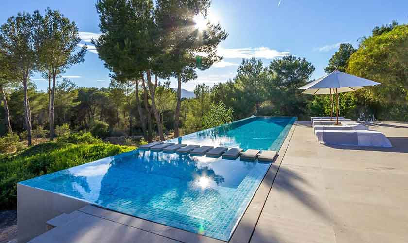 Poolblick Ferienhaus Ibiza IBZ 45