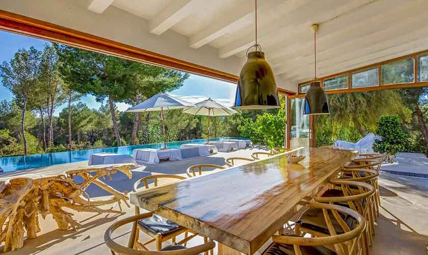 Esstisch Terrasse Ferienhaus Ibiza IBZ 45