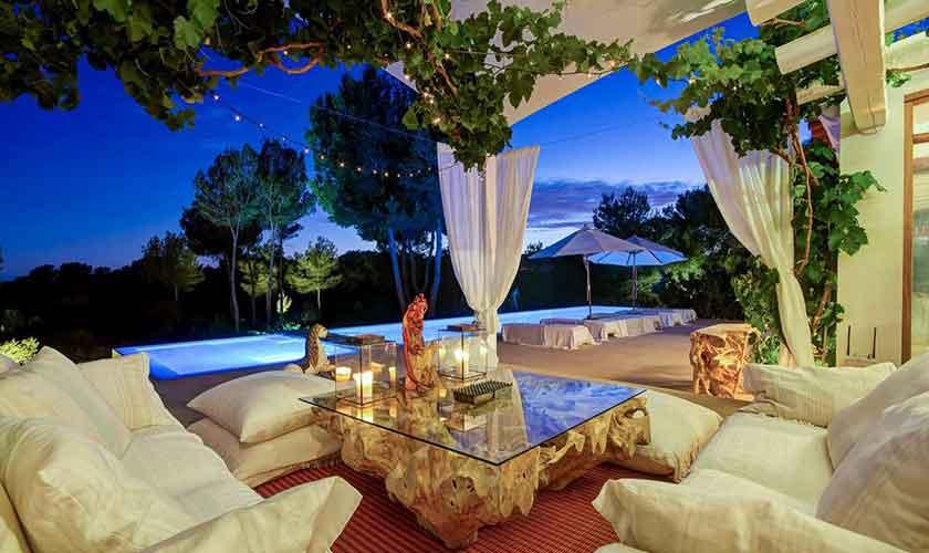 Terrasse und Pool Ferienhaus Ibiza IBZ 45