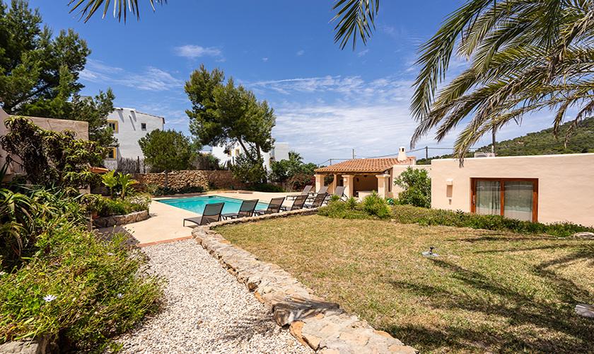 Garten und Pool Finca Ibiza IBZ 62