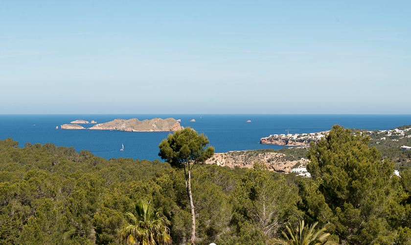 Meerblick Ferienvilla Ibiza Pool 10 Personen IBZ 77