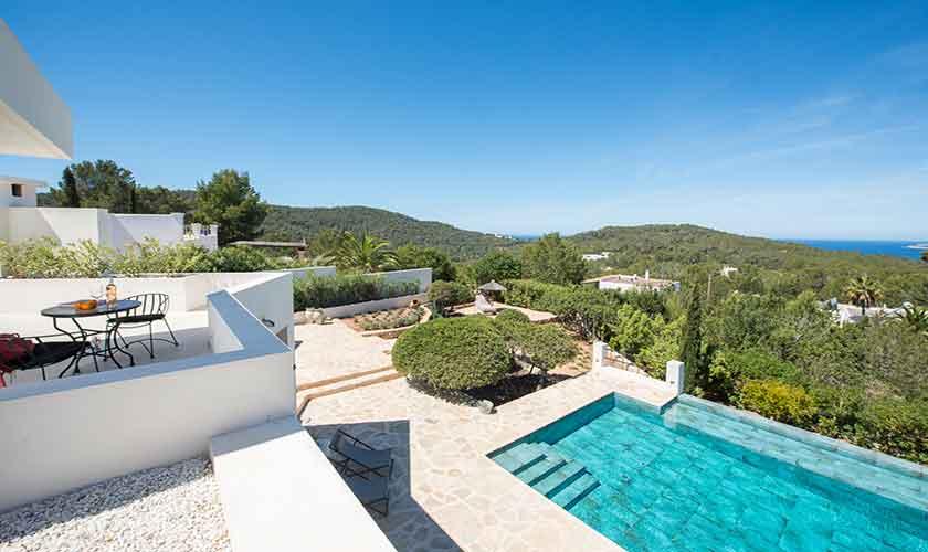 Poolblick Ferienvilla Ibiza für 10 Personen IBZ 77