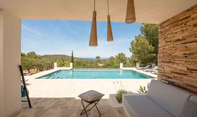Terrasse Ferienvilla Ibiza für 10 Personen IBZ 77