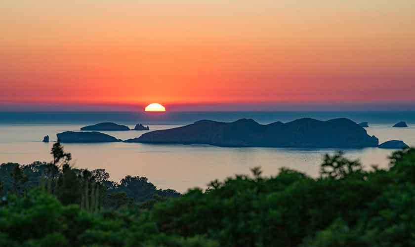 Blick Sonnenuntergang Villa Ibiza IBZ 77