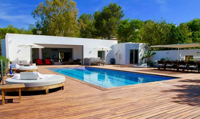 Pool und Terrasse Ferienvilla Ibiza IBZ 81