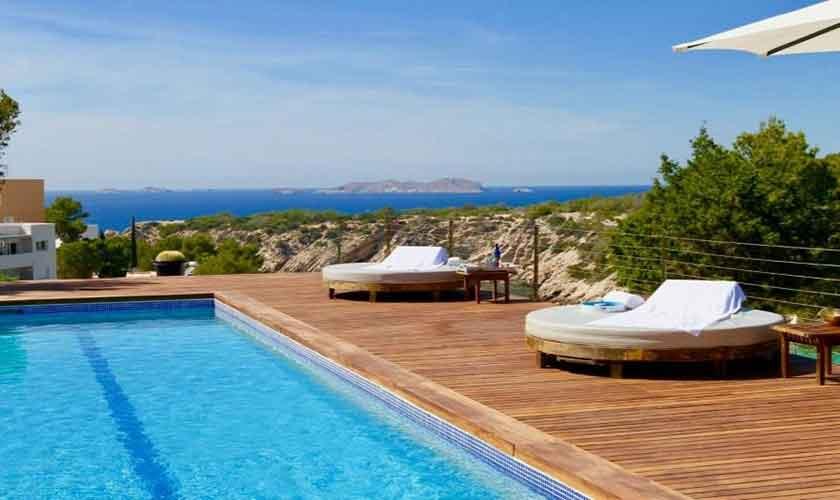 Pool und Meerblick Ferienvilla Ibiza IBZ 81