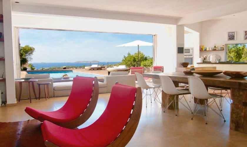 Wohnraum Ferienvilla Ibiza IBZ 81