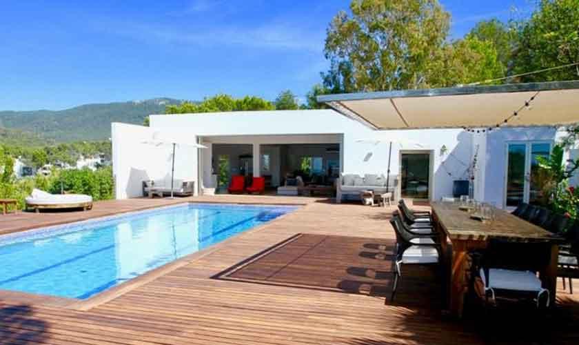 Pool und Terasse Ferienvilla Ibiza IBZ 81