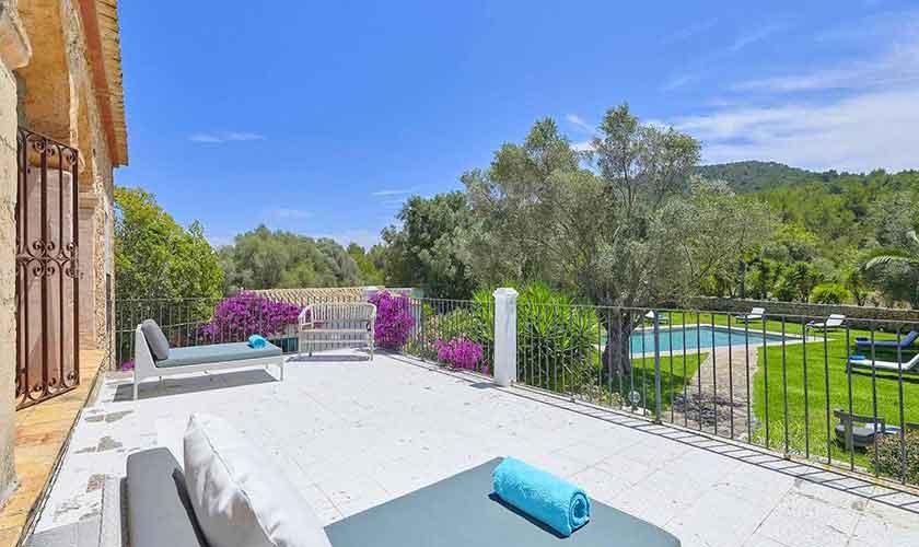 Terrasse oben Ferienvilla Ibiza IBZ 86