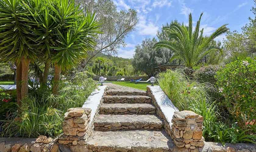 Treppe zum Pool Ferienvilla Ibiza IBZ 86