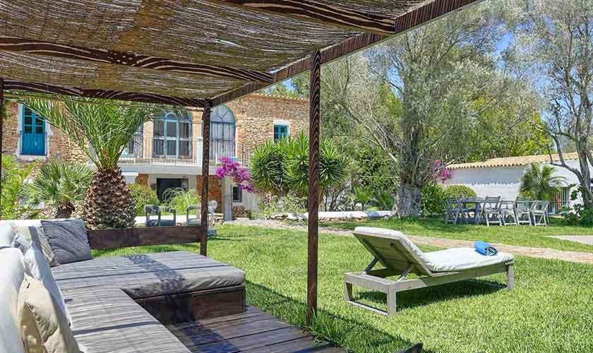 Lounge und Garten Ferienvilla Ibiza IBZ 86