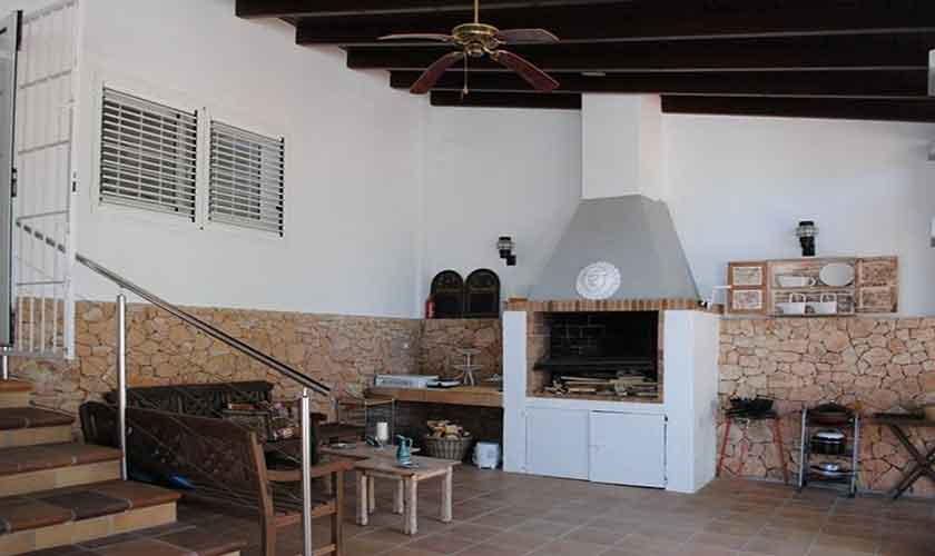 Grillplatz Terrasse Ferienvilla Ibiza Ibz 88