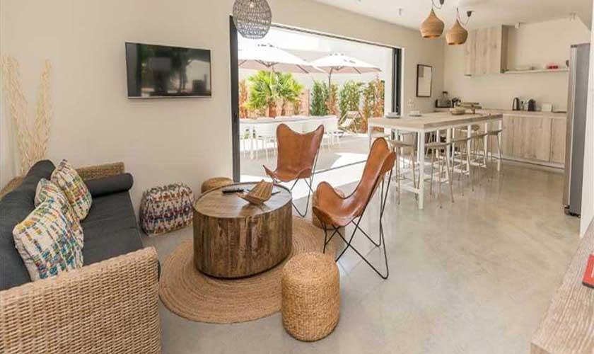 Wohnraum Ferienvilla Ibiza IBZ 89