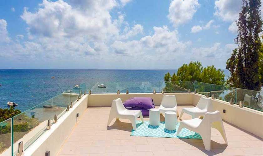 Obere Terrasse Villa am Strand Ibiza IBZ 90