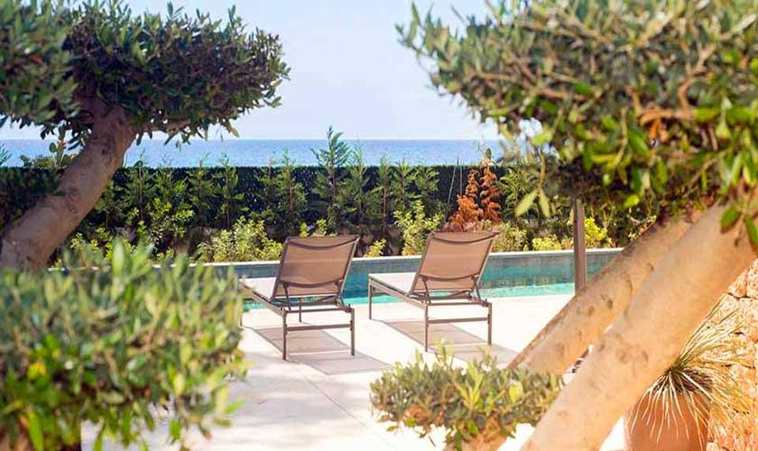 Pool und Meerblick Villa am Strand Ibiza IBZ 90