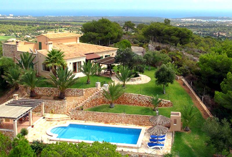 Blick auf die Villa Mallorca PM 6061 im Südosten