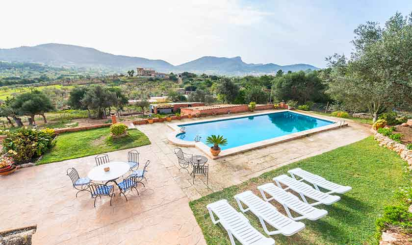 Poolblick Finca Mallorca Südwesten PM 104