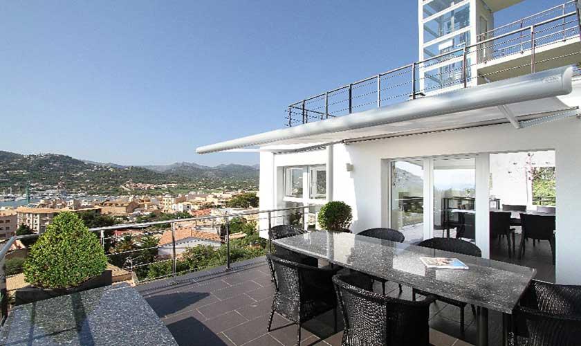 Esstisch Terrasse Luxusvilla Mallorca Port Andratx PM 110