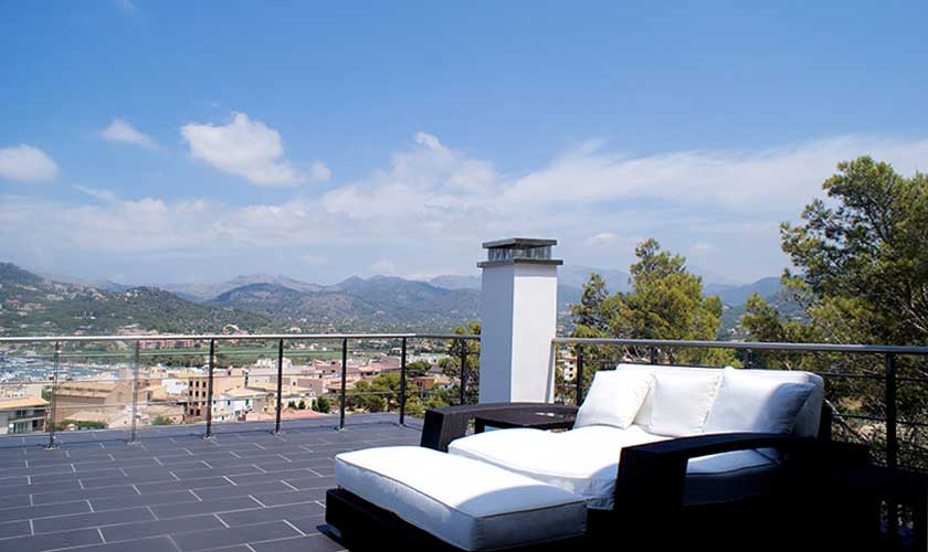 Terrasse Luxusvilla Mallorca Port Andratx PM 110