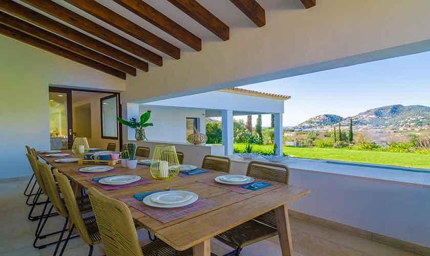 Terrasse Ferienvilla Mallorca 12 Personen PM 115