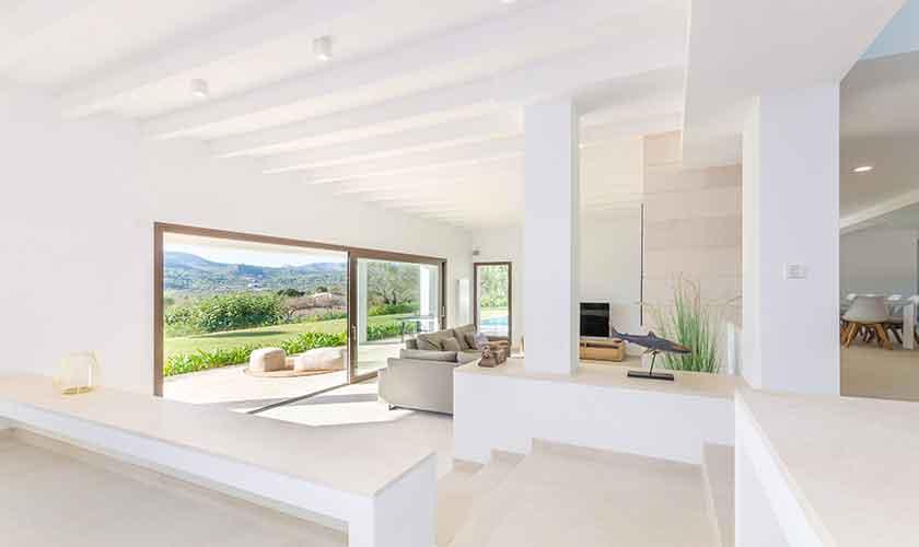 Wohnraum Ferienvilla Mallorca 12 Personen PM 115
