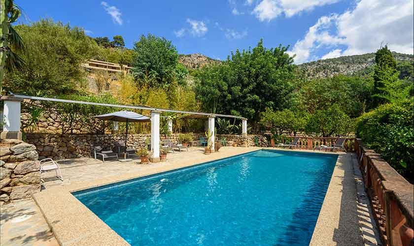 Pool und Landschaft Finca Mallorca PM 210