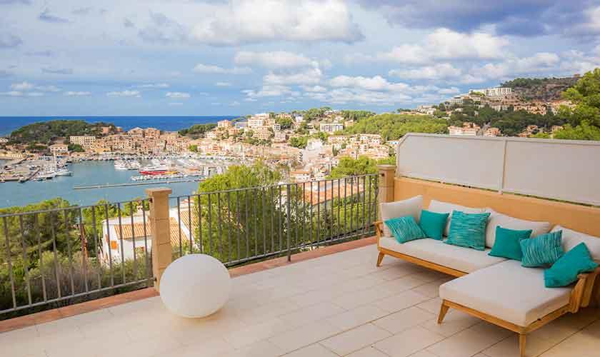 Terrasse und Meerblick Ferienhaus Mallorca PM 230