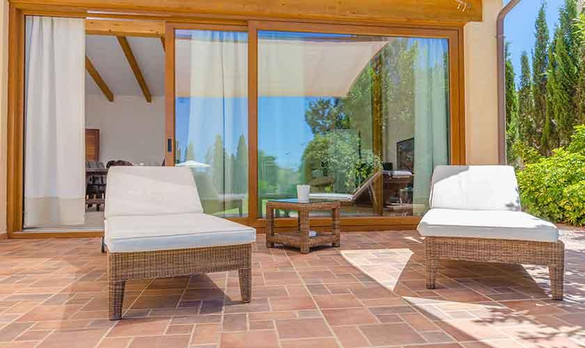 Terrasse Finca Mallorca für 6 Personen PM 3015