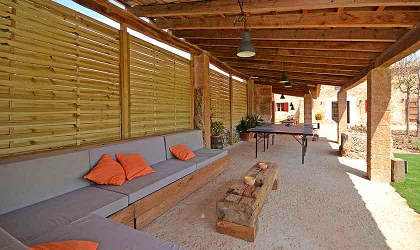 Überdachte Terrasse Finca Mallorca 6 Personen PM 3038