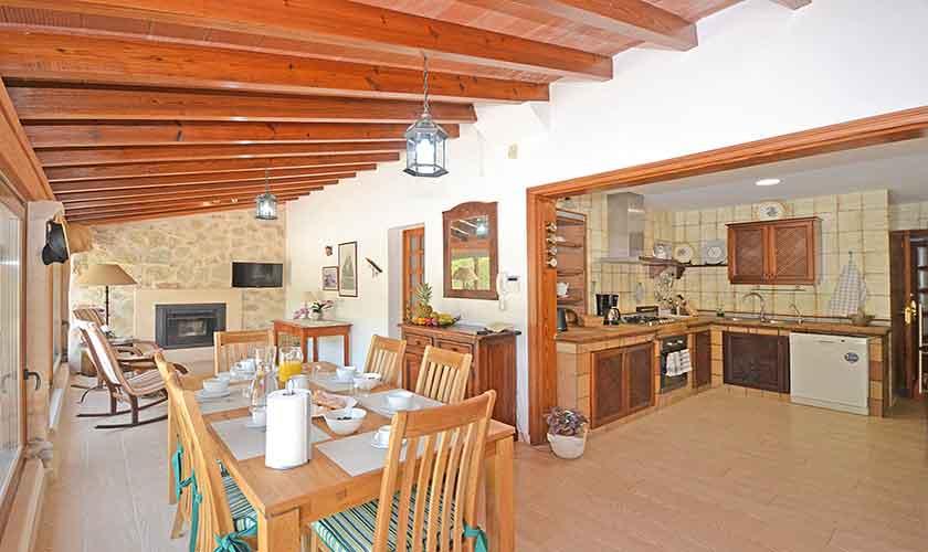 Wohnraum Finca Mallorca mit Pool PM 3070
