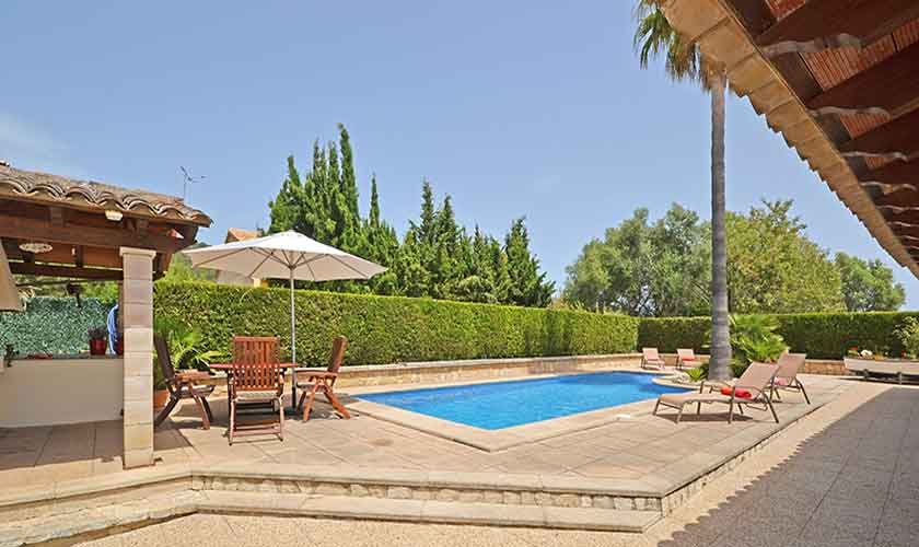 Poolblick Finca Mallorca mit Pool PM 3070