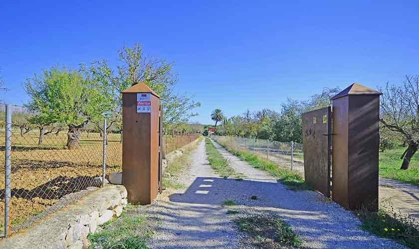 Eingangstor Finca Mallorca Norden PM 3121