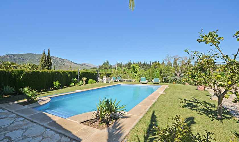 Poolblick Finca Mallorca Norden PM 3126