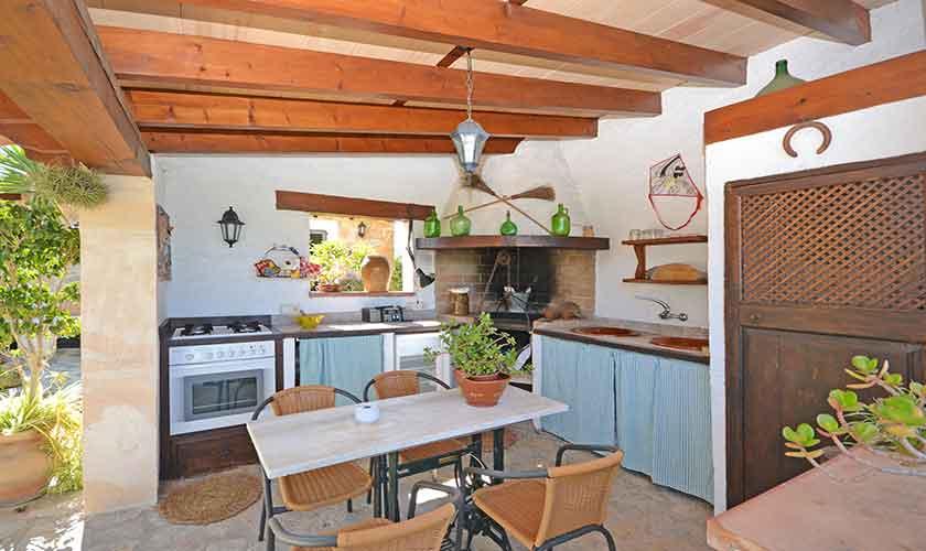 Außenküche Finca Mallorca Norden PM 3126