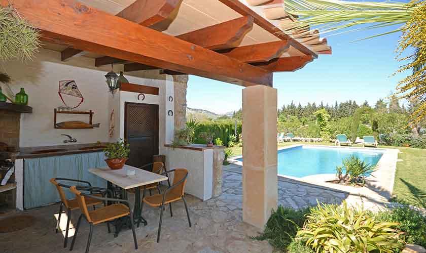 Sommerküche Finca Mallorca Norden PM 3126