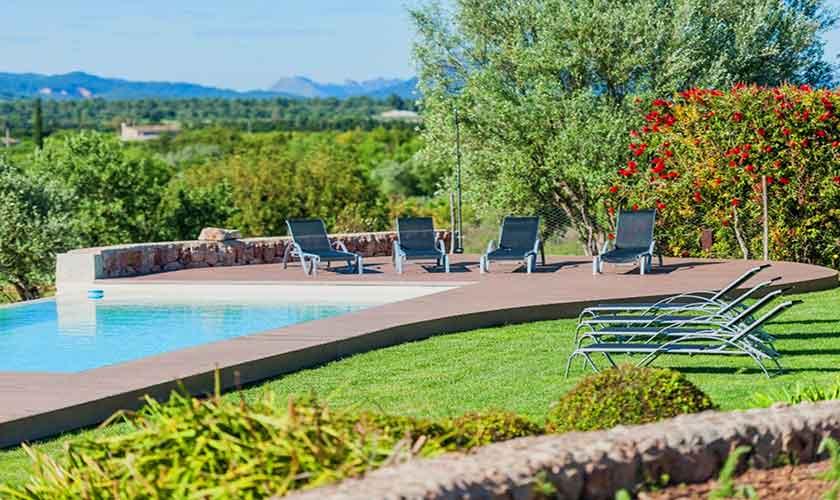 Mallorca Finca PM 320 Pool und Landschaft