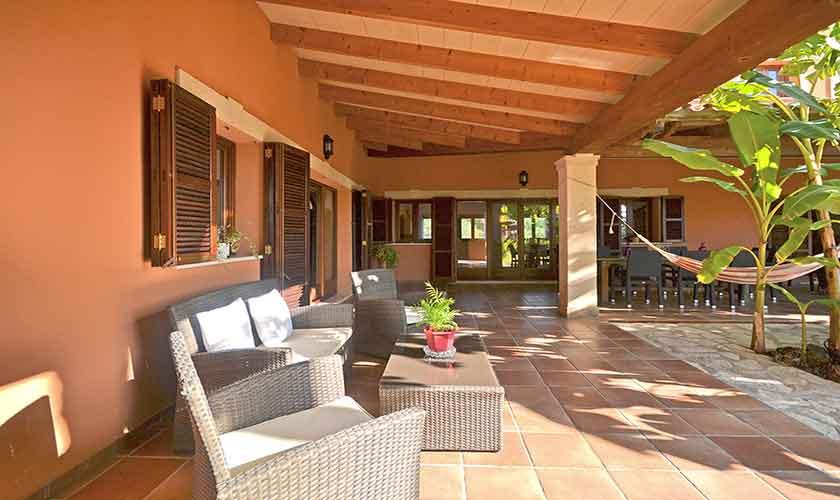 Terrasse Ferienhaus Mallorca Norden PM 3222