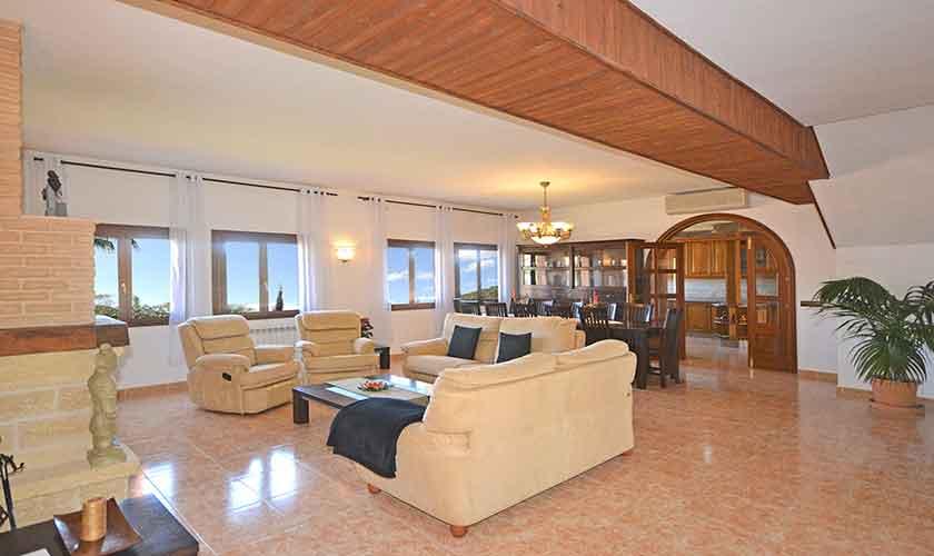 Wohnraum Ferienhaus Mallorca Norden PM 3222